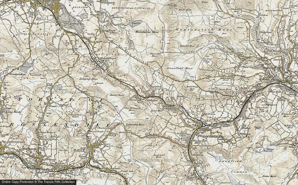 Old Map of Cornholme, 1903 in 1903