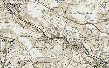 Old map of Cornholme in 1903