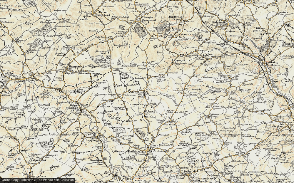 Old Map of Historic Map covering Whitleys in 1898-1901