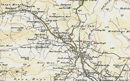 Old map of Whitestone Ho in 1901-1904