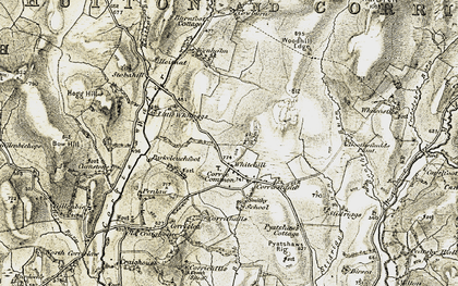 Old map of Whitcastles in 1901-1904
