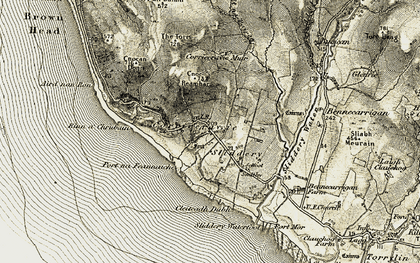 Old map of Allt na Pairce in 1905-1906