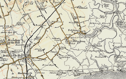 Old map of Corringham in 1897-1898