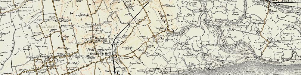 Old map of Corringham in 1897-1898