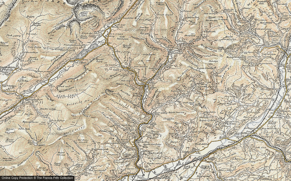 Old Map of Corris, 1902-1903 in 1902-1903