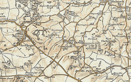 Old map of Woodwalls in 1899