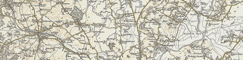 Old map of Limbury Hill in 1899-1900