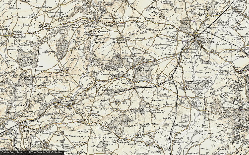 Old Map of Corsham, 1899 in 1899