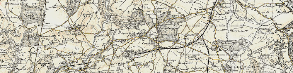 Old map of Corsham in 1899