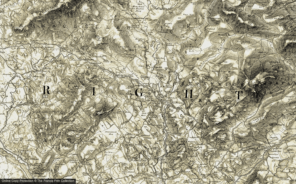 Old Map of Historic Map covering Arvie Loch in 1904-1905