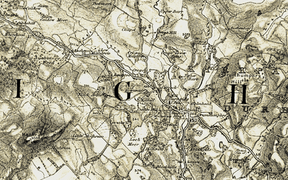 Old map of Arvie in 1904-1905