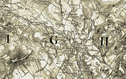 Old map of Auchenvey in 1904-1905