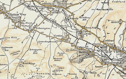 Old map of Whatcomb Bottom in 1897-1899