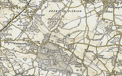 Old map of Lea Brook in 1903