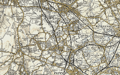 Old map of Coseley in 1902