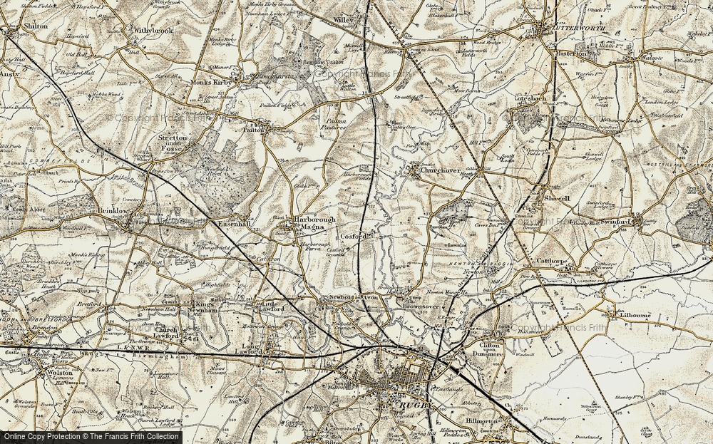 Old Map of Historic Map covering Lower Lodge Fm in 1901-1902
