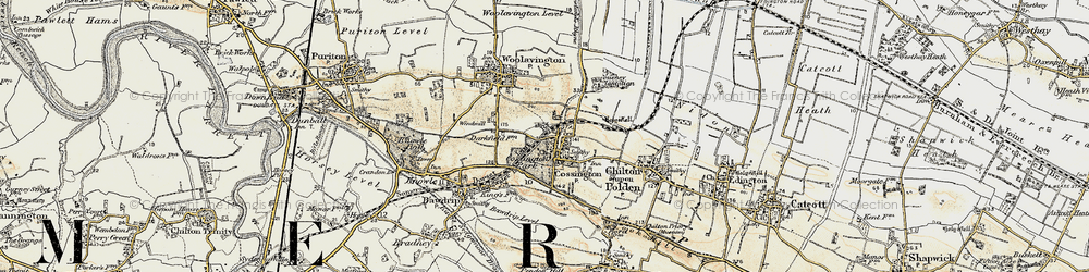 Old map of Cossington in 1898-1900