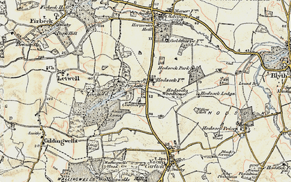 Old map of Langold Country Park in 1903