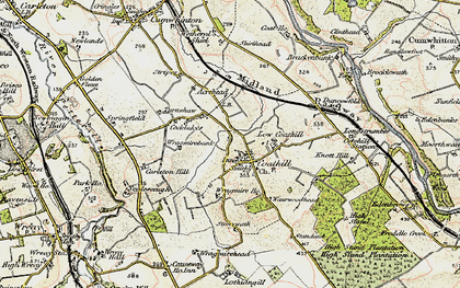Old map of Wragmire Moss in 1901-1904