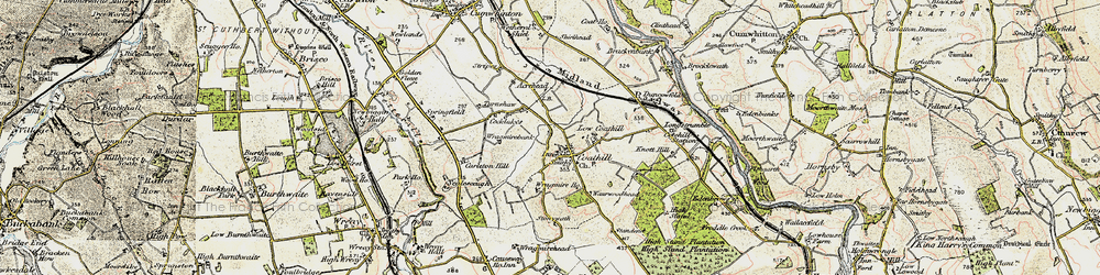 Old map of Wragmire Bank in 1901-1904