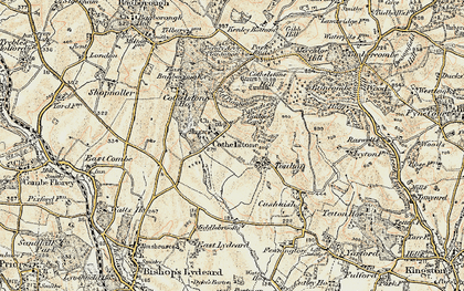 Old map of Cothelstone in 1898-1900