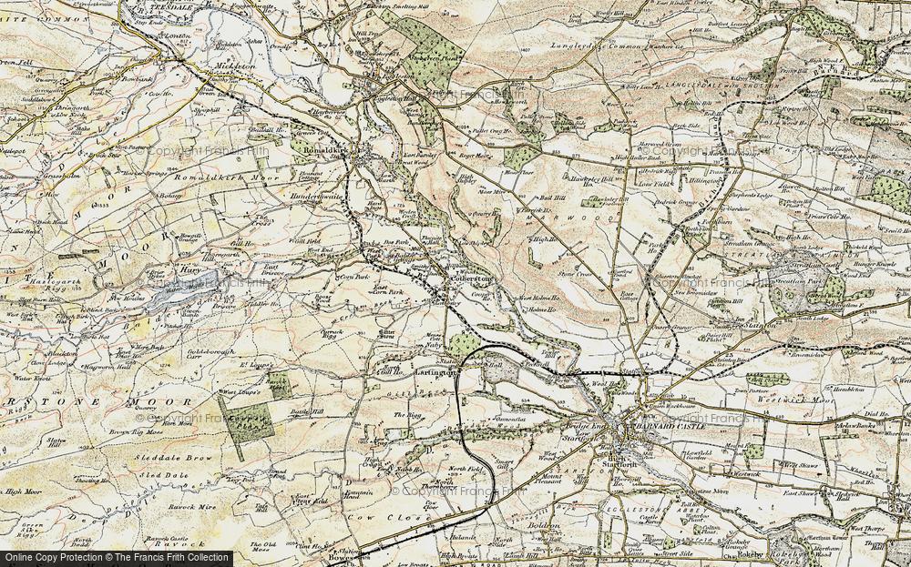 Old Map of Historic Map covering Balder Grange in 1903-1904