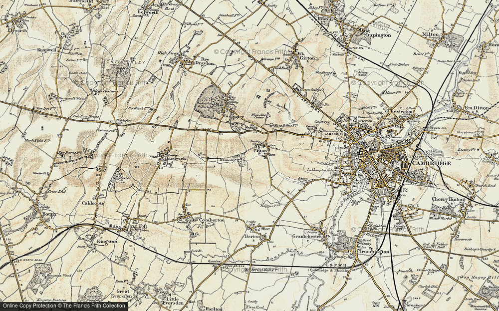 Old Map of Coton, 1899-1901 in 1899-1901