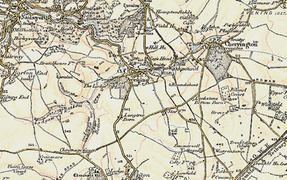 Old map of Avening Court in 1898-1900