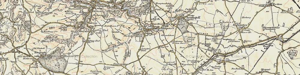 Old map of Cotswold Hills in 1898-1900
