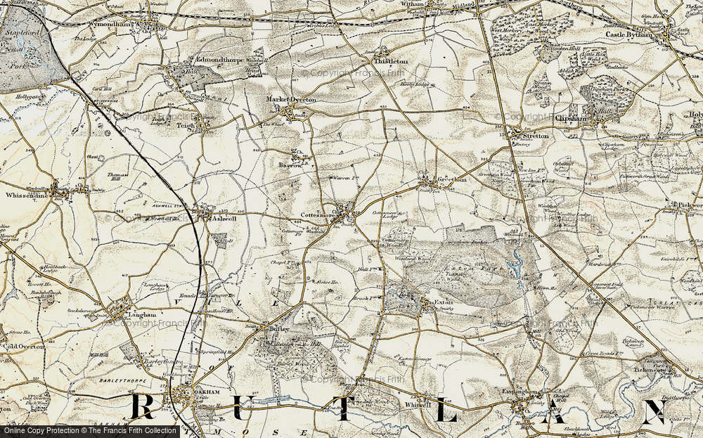 Old Map of Cottesmore, 1901-1903 in 1901-1903