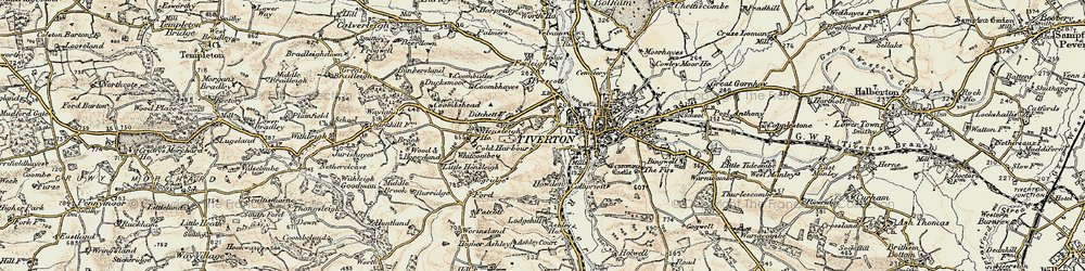 Old map of Whitcombe in 1898-1900