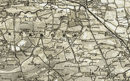 Old map of West Muirhouse in 1907-1908