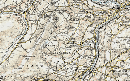 Old map of Baitings Pasture in 1903
