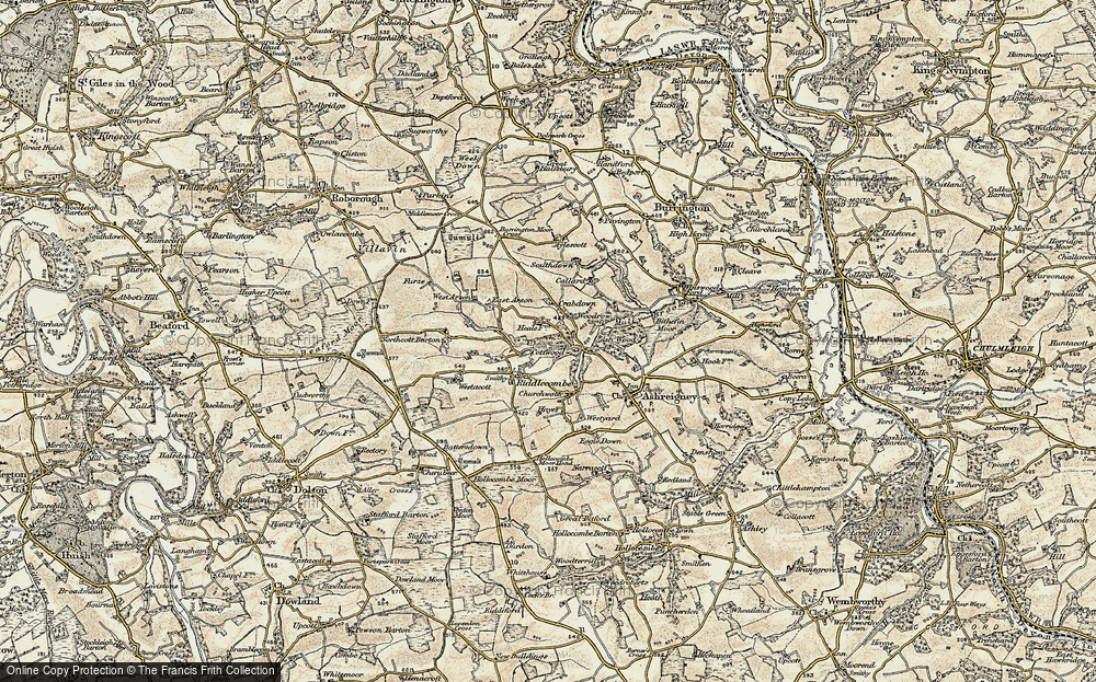 Old Map of Historic Map covering Austins in 1899-1900