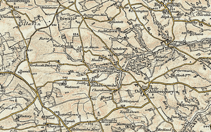 Old map of Austins in 1899-1900