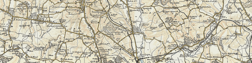 Old map of Alcester Lodge in 1899-1902