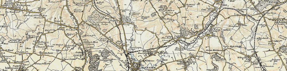 Old map of Windmill Hill in 1899-1902