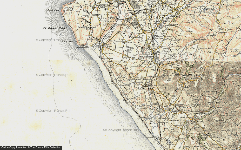 Old Map of Historic Map covering Ashley Grove in 1903-1904