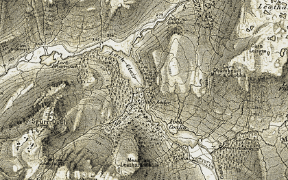Old map of Allt na Lùib in 1908-1909
