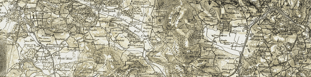 Old map of Leadlich in 1908-1909