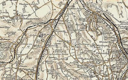 Old map of Coulsdon in 1897-1902