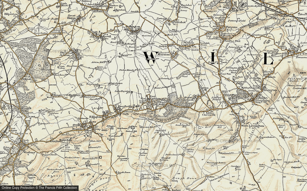 Old Map of Coulston, 1898-1899 in 1898-1899