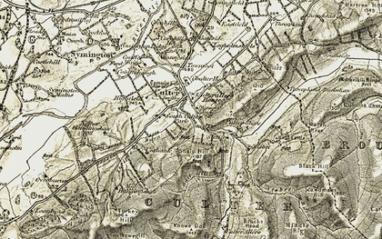Old map of Bracs, The in 1904-1905