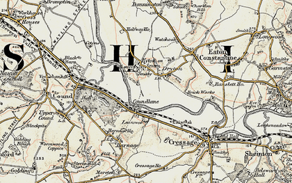Old map of Leasowes in 1902