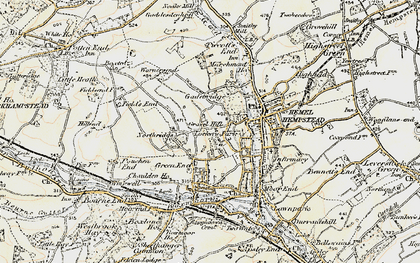 Old map of Counters End in 1898