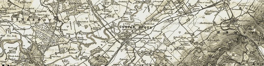 Old map of Wester Denhead in 1907-1908