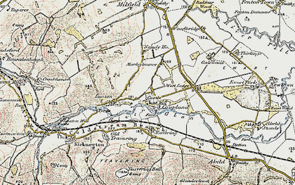 Old map of Yeavering in 1901-1903
