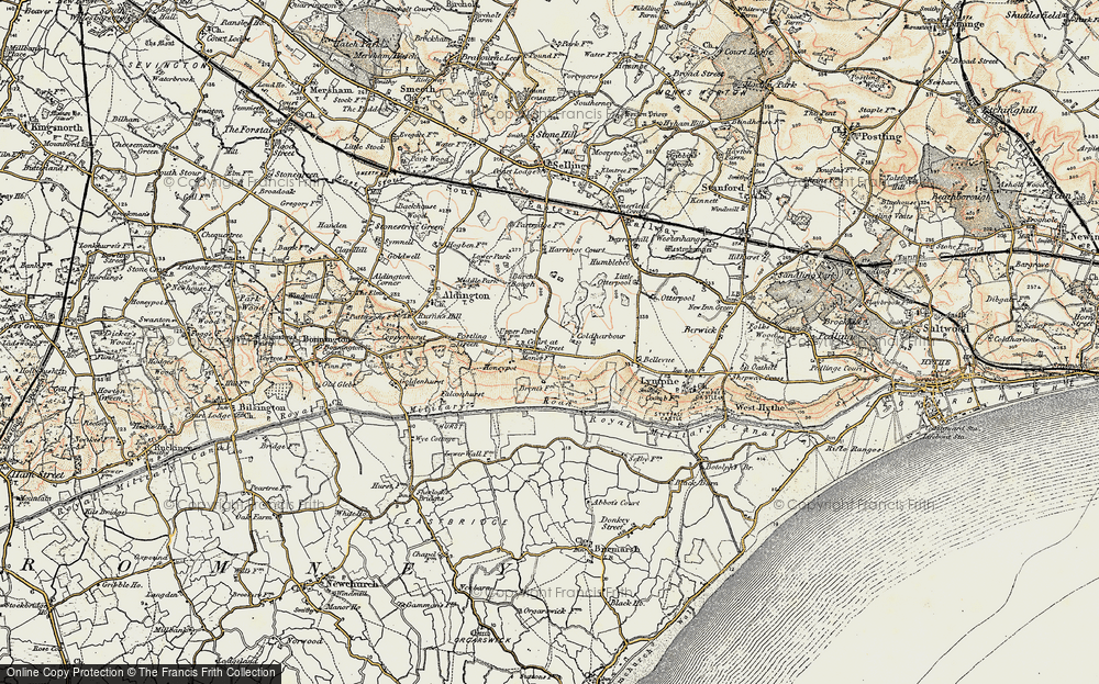 Old Map of Historic Map covering Aldergate Wood in 1898