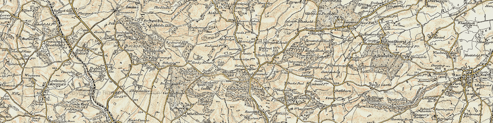 Old map of Timbercombe in 1898-1900
