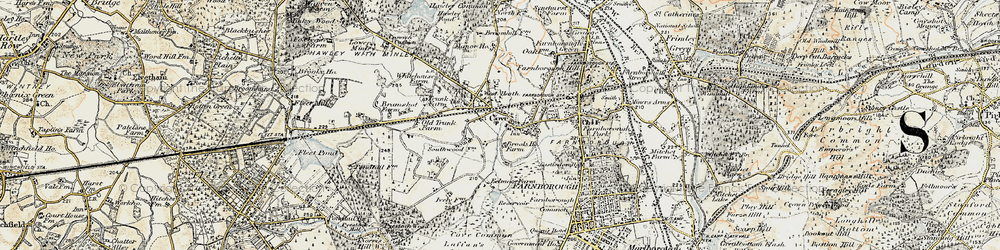 Old map of Cove in 1897-1909